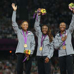USA bricht 4X100M Rekord in London 2012