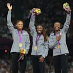 2012年伦敦奥运会美国女子接力队打破世界纪录