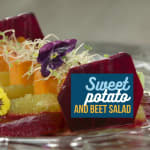 Insalata di patata dolce e barbabietola