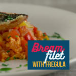 Filetto di orata con fregola