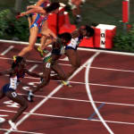 Devers vence Ottey no emocionante 100m em Atlanta, 1996