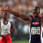 Golden Johnson's 200M Sprint Victory in Atlana 1996