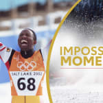 Isaac Menyoli sugli sci per una grande causa | Impossible Moments