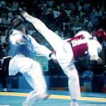Insane roundhouse kick for taekwondo gold at Athens 2004