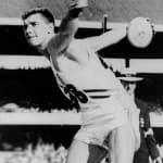 Oerter's Quadruple Discus Olympic Games Gold