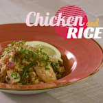 Hähnchen und Reis