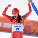 マゼとギザンがソチ2014滑降で金メダルを分け合う