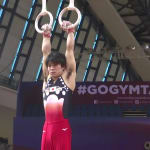 Uchimura skipping vault and floor exercises