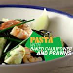 Pasta mit Blumenkohl und Garnelen