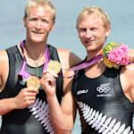 新西兰男子双人单桨组合表现出色,赢得金牌
