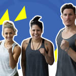 Can this fitness duo hang with an Olympic medallist's boxing workout?