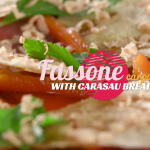 Fassone carpaccio with Carasau bread