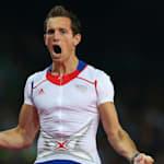 拉维勒尼在2012年伦敦奥运会上创造撑杆跳世界纪录