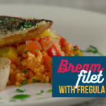 Bream fillet with fregula