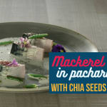 Mackerel in pacharan and chia seeds
