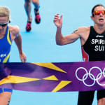 Erstaunliches Fotofinish beim Frauen-Triathlon in London