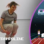 Gamer Ashley Marie irá impressionar Bryony Page nesse desafio de trampolim?