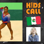 Kids call Simone Biles' amazing floor routine