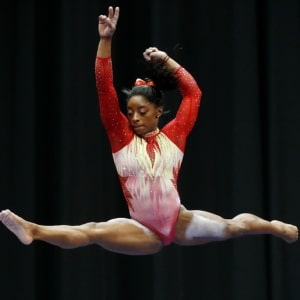 Simone Biles competes during the 2018 U.S. Classic gymnastics seniors event at Jerome Schottenstein Center on July 28, 2018 in Columbus, Ohio. (Photo by Joe Robbins/Getty Images)