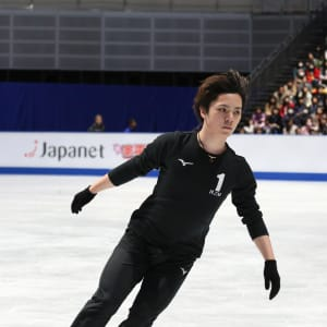 Shoma Uno in practice on Wednesday