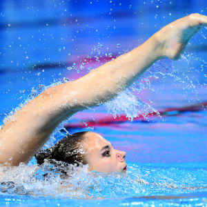 Noemi Peschl of Switzerland competes in the Solo Technical preliminary round on day one of the Gwangju 2019 FINA World Championships at Yeomju Gymnasium on July 12, 2019 in Gwangju, South Korea. (Photo by Quinn Rooney/Getty Images)