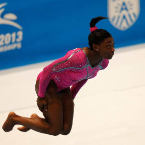 Simone Biles during the floor exercise final at the 2013 World Championships.