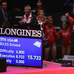 Team USA celebrates gold at the 2015 World Championships