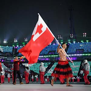 Pita became the flagbearer for Tonga at PyeongChang 2018