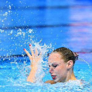 Vasilina Khandoshka of Belarus competes in the Solo Technical preliminary round on day one of the Gwangju 2019 FINA World Championships at Yeomju Gymnasium on July 12, 2019 in Gwangju, South Korea. (Photo by Quinn Rooney/Getty Images)