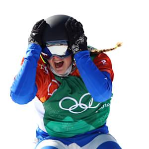 Moioli after winning in PyeongChang