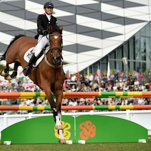Laura Asadauskaite during the Riding leg