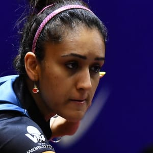 Manika Batra's table tennis earrings