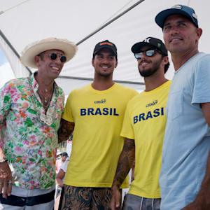 Fernando Aguerre, Kelly Slater, Filipe Toledo, Gabriel Medina. credit Ben Reed
