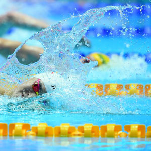 Sun Yang of China competes in the Men's 400m Freestyle Final on day one of swimming at the Gwangju 2019 FINA World Championships at Nambu International Aquatics Centre on July 21, 2019 in Gwangju, South Korea. (Photo by Quinn Rooney/Getty Images)
