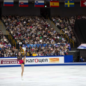 Alina Zagitova performs her gold medal free skate at the World Championships