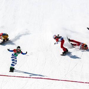 Moioli crosses finish line in PyeongChang 2018