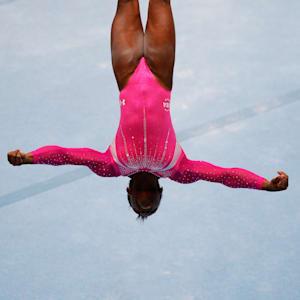 Simone Biles tumbles during the 2013 World Championships