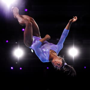 Simone Biles during the floor final at the 2019 World Artistic Gymnastics Championships