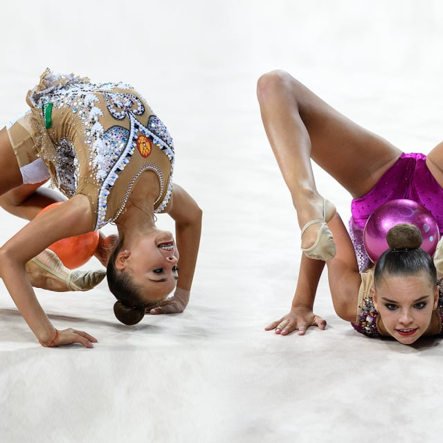 The Averina twins: Can you tell the rhythmic gymnastics star duo apart?