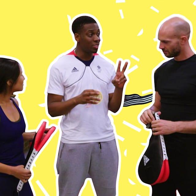 Viva a intensidade do treinamento de um medalhista de taekwondo