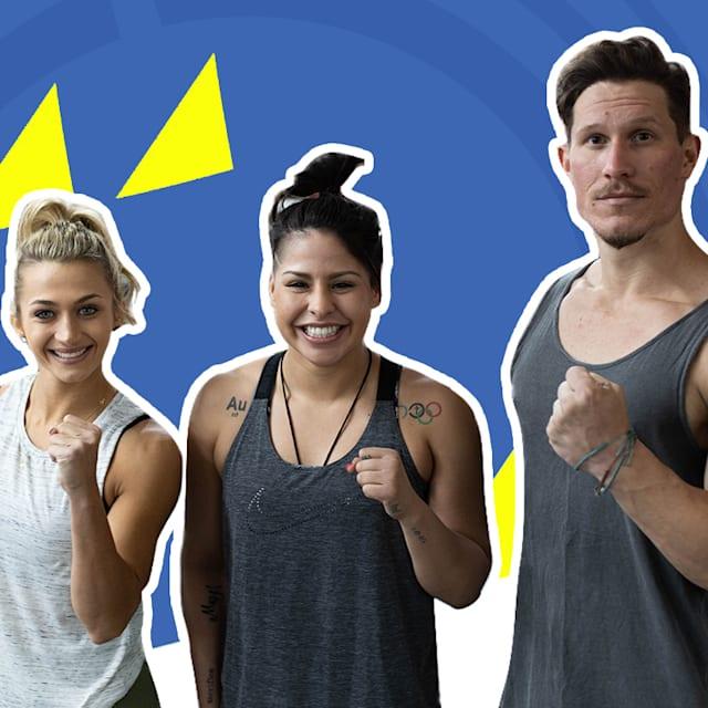 Kann dieses Fitness-Duo mit einer olympischen Boxerin mithalten?