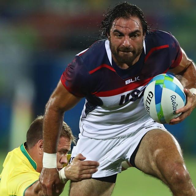 A estrela da NFL Ebner diz : Brady e Gronk deveriam tentar o Rugby Sevens