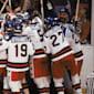 The USA upset the Soviet Union to win men's ice ho...