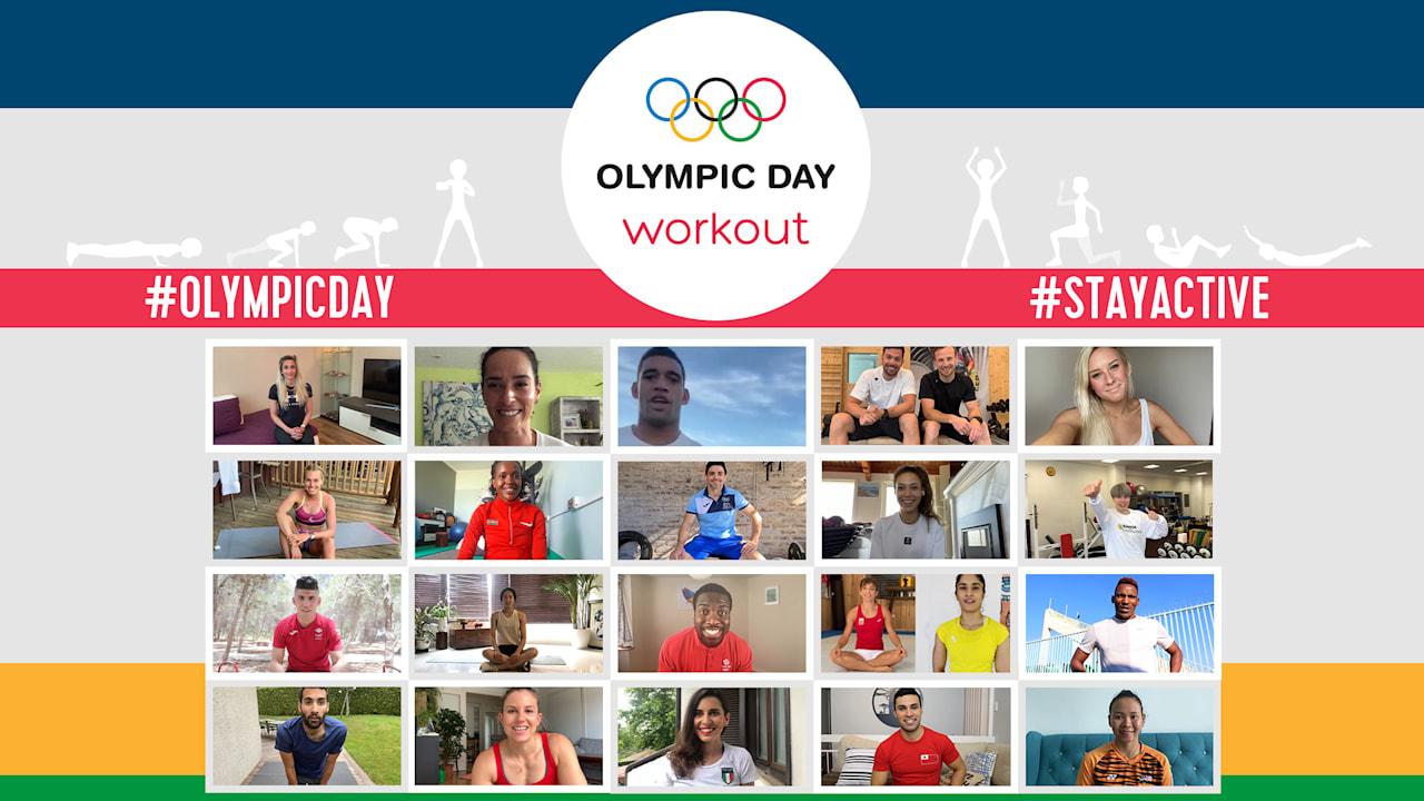 Тренировка в Международный Олимпийский день