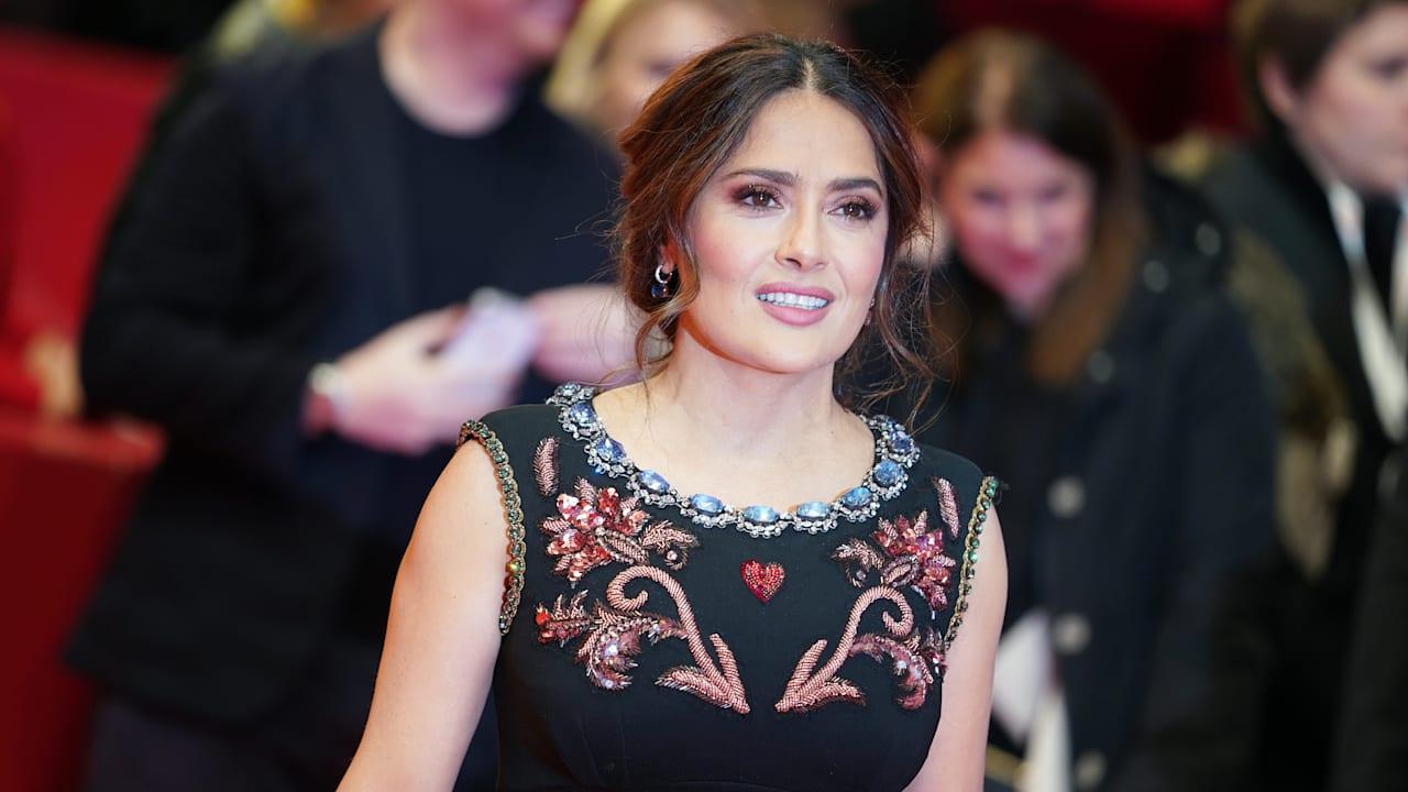 Actress Salma Hayek shares Olympic and gymnastics regrets
