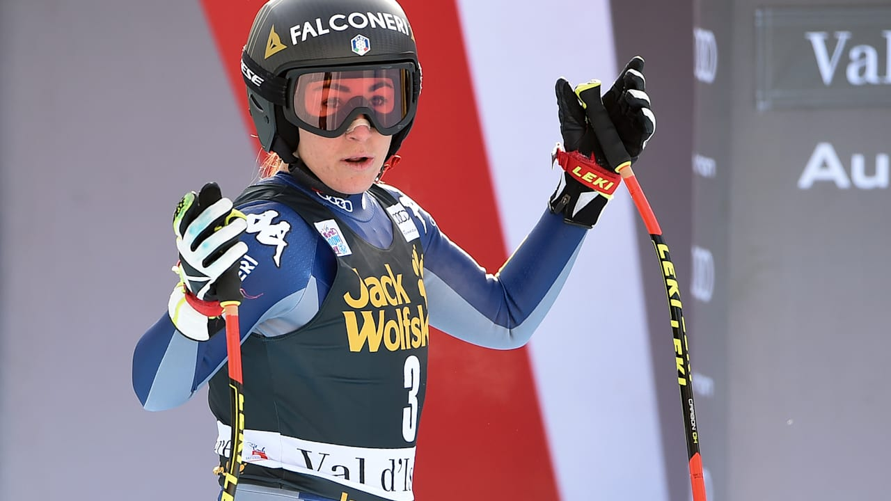 Olympic Downhill Champ Sofia Goggia Triumphs At Val D Isere