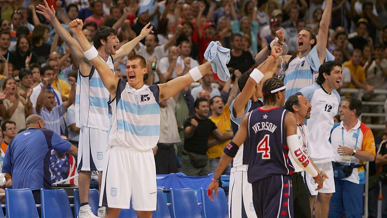 Argentina Shock USA in Men's Basketball | Athens 2004
