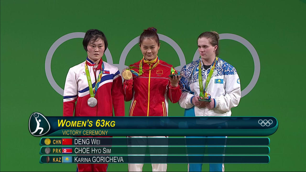 China's Deng lifts to Women's 63kg gold