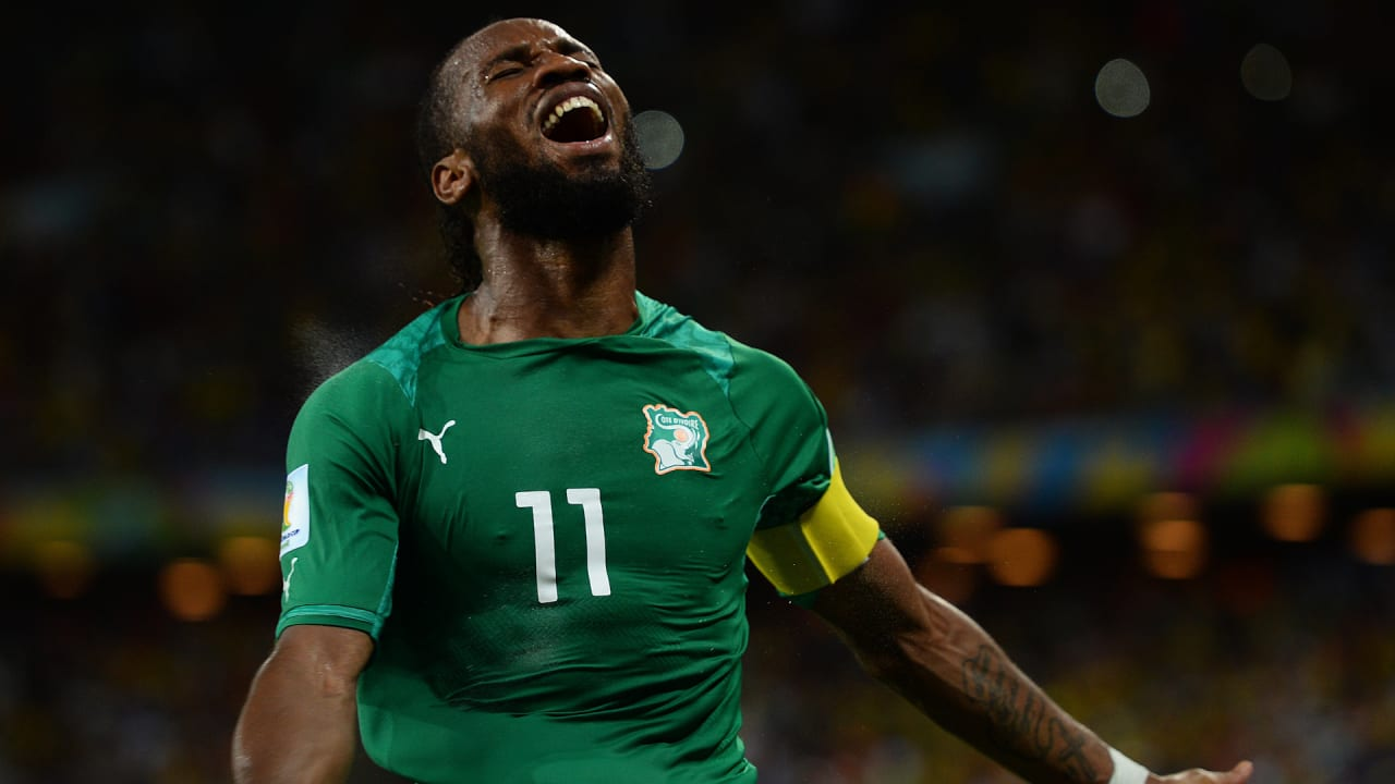 Who made Didier Drogba scream with delight?