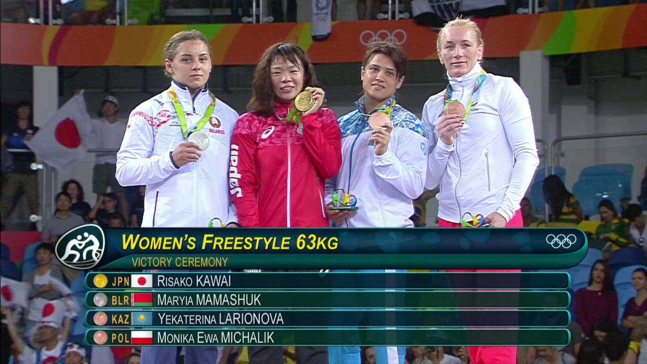 Kawai wins Freestyle Wrestling gold